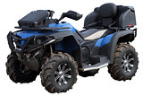 Blue Quad bike.