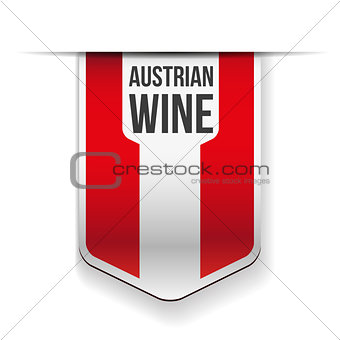 Austrian Wine flag ribbon