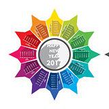 creative new year 2017 calendar design