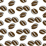 Seamless pattern coffee beans