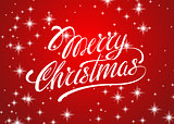 Beautiful text design of Merry Christmas on red color background. vector illustration for banners, labels, postcards, prints, posters, web