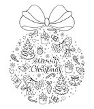 hand drawn christmas pattern