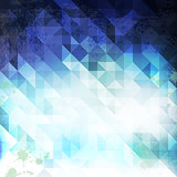 triangle blue grunge 02
