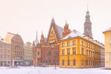 City hall on Market Square in Wroclaw, Poland