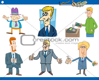 cartoon set of businessmen