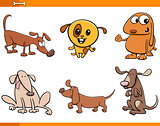 dog animal characters set