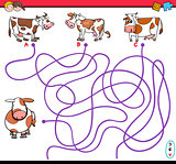 path maze game with cows