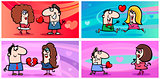 valentines cartoon greeting cards
