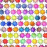 Seamless colorful flowers texture, Isolation on a white background