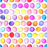 Seamless texture of abstract bright shiny colorful balloons,