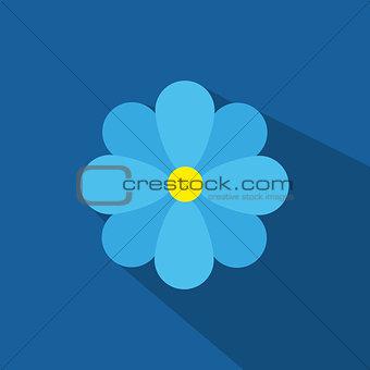 Flat Blue Flower