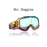 Ski googles, sketch for your design