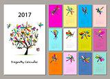 Dragonfly calendar 2017 design