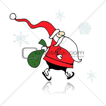Santa Claus, sketch for your design
