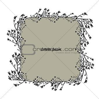 Art frame, sketch for your design
