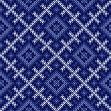Seamless knitted pattern in cool blue hues