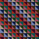 Seamless knitted motley multicolour geometric pattern