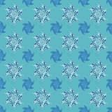 Sea seamless pattern blue background.