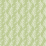 Vector sprig Seamless pattern green background.