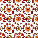 Bright Varicolored seamless pattern white background.