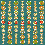 Bright colorful circles seamless background.