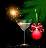 light glass, tree and sparkler