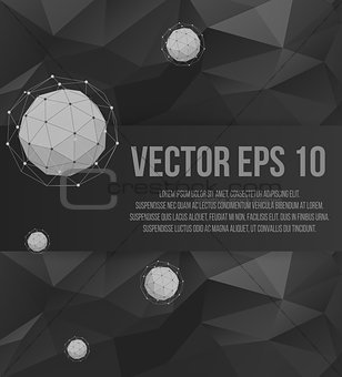 Abstract Creative concept vector background of geometric shapes from triangular faces. Polygonal design style letterhead and brochure for business. EPS 10 vector illustration.