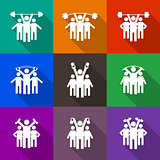 People icon, vector illustration.