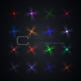 Bright light effects, vector illustration.