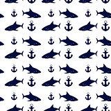 Nautical seamless background, vector illustration.