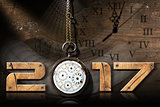 2017 New Year - Old Broken Pocket Watch