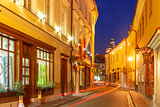 Picturesque Street at night, Vilnius, Lithuania