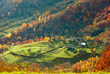 Autumn in mountain village