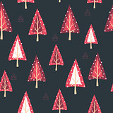 Christmas seamless background. New Year collection. Greeting seasonal for scrapbooking and invitations. Floral christmas seamless.