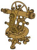 Old brass theodolite