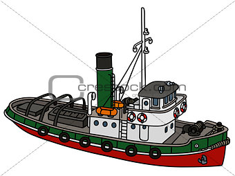 Old harbour steamboat