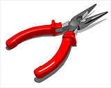 Pliers with Red Plastic Handles