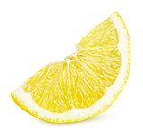 Slice of lemon citrus fruit