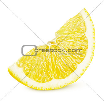 Slice of lemon citrus fruit