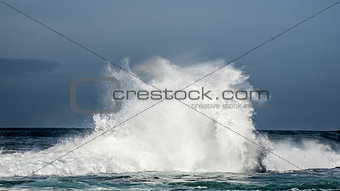 Wave Crasshing at Storms River Mouth