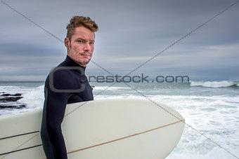 Portrait of Surfer in Jeffreys Bay