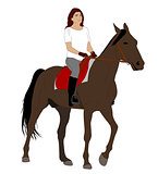 woman riding horse 2