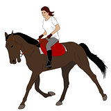 woman riding horse 3