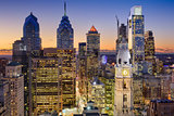 Philadelphia, Pennsylvania Skyline