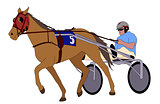 Trotter in harness illustration