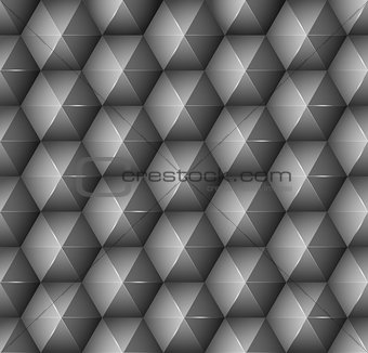 Abstract background with black hexagons.