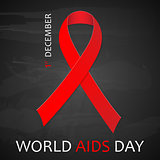 December World Aids Day poster. Vector illustration.