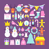 Cute Merry Christmas Objects