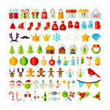 Big Set Merry Christmas Objects