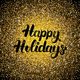 Happy Holidays Gold Design